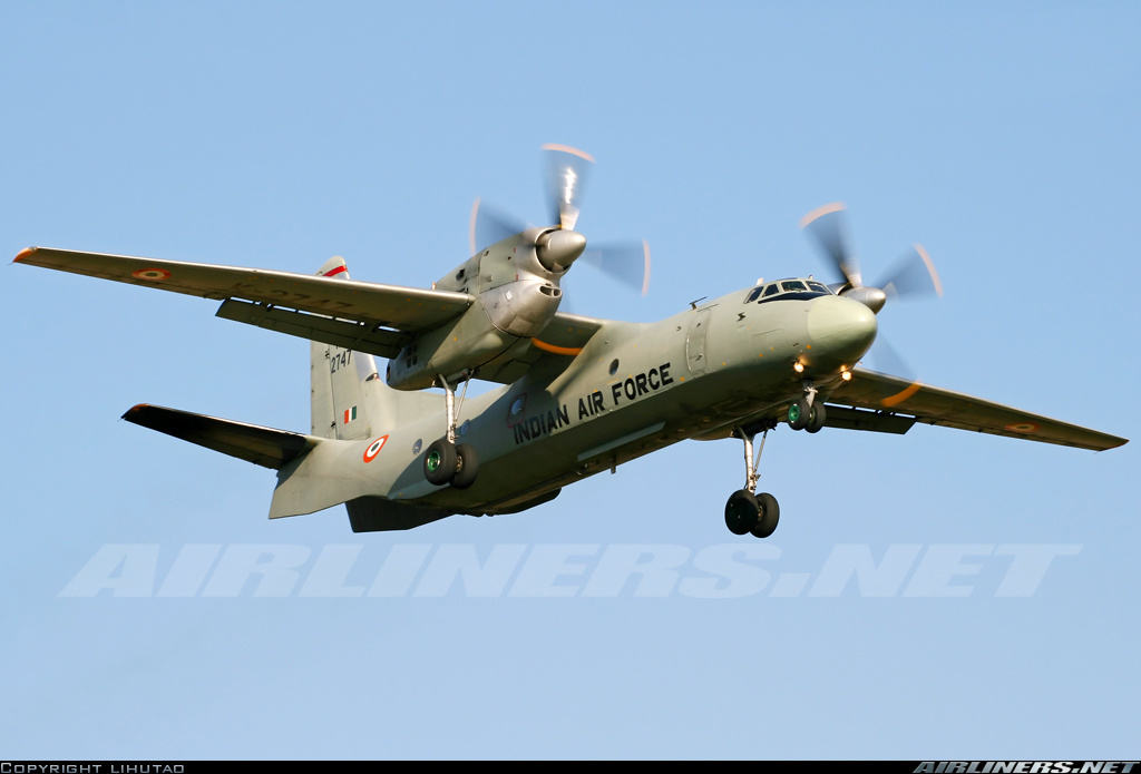 Antonov An-32 of the Indian Air Force goes missing with 29 onboard