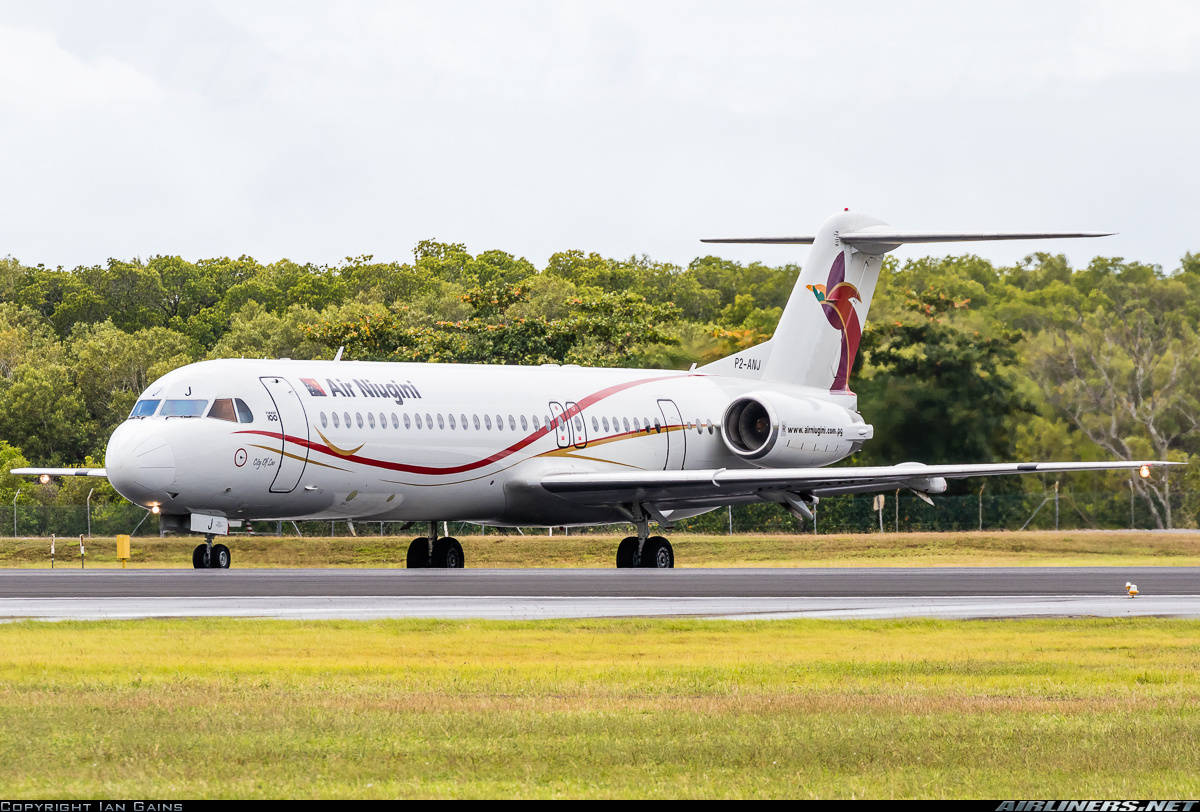 5th Fokker 70 for Air Niugini arrives in Port Moresby