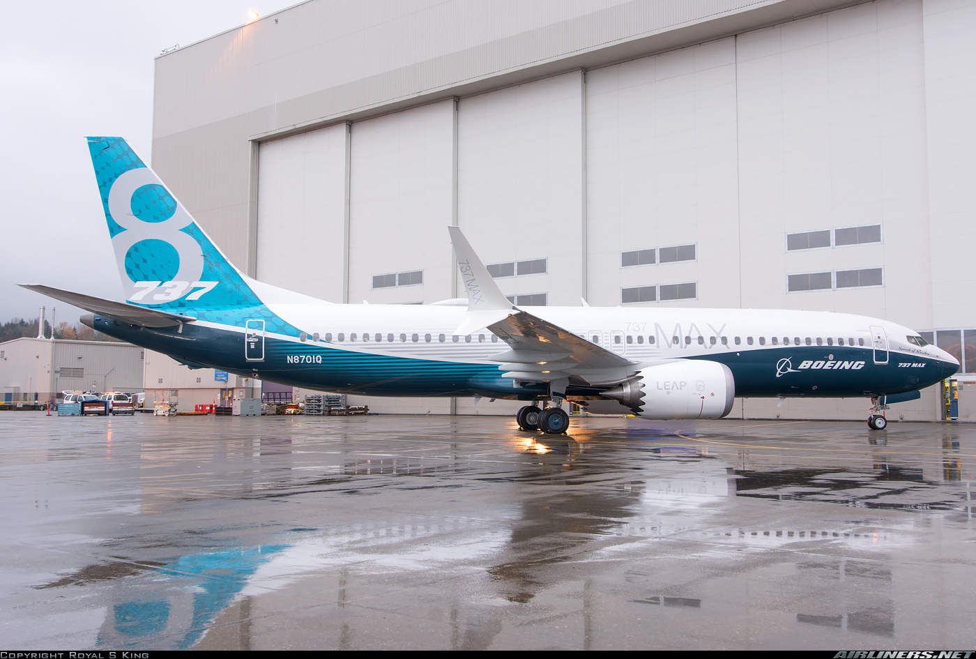 First 737-8 rolls out of Renton