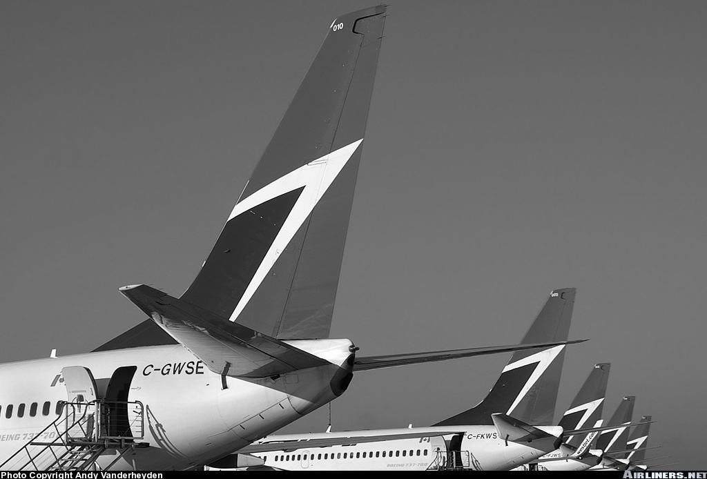 WestJet reduces ops. out of Calgary and Edmonton because of poor economy