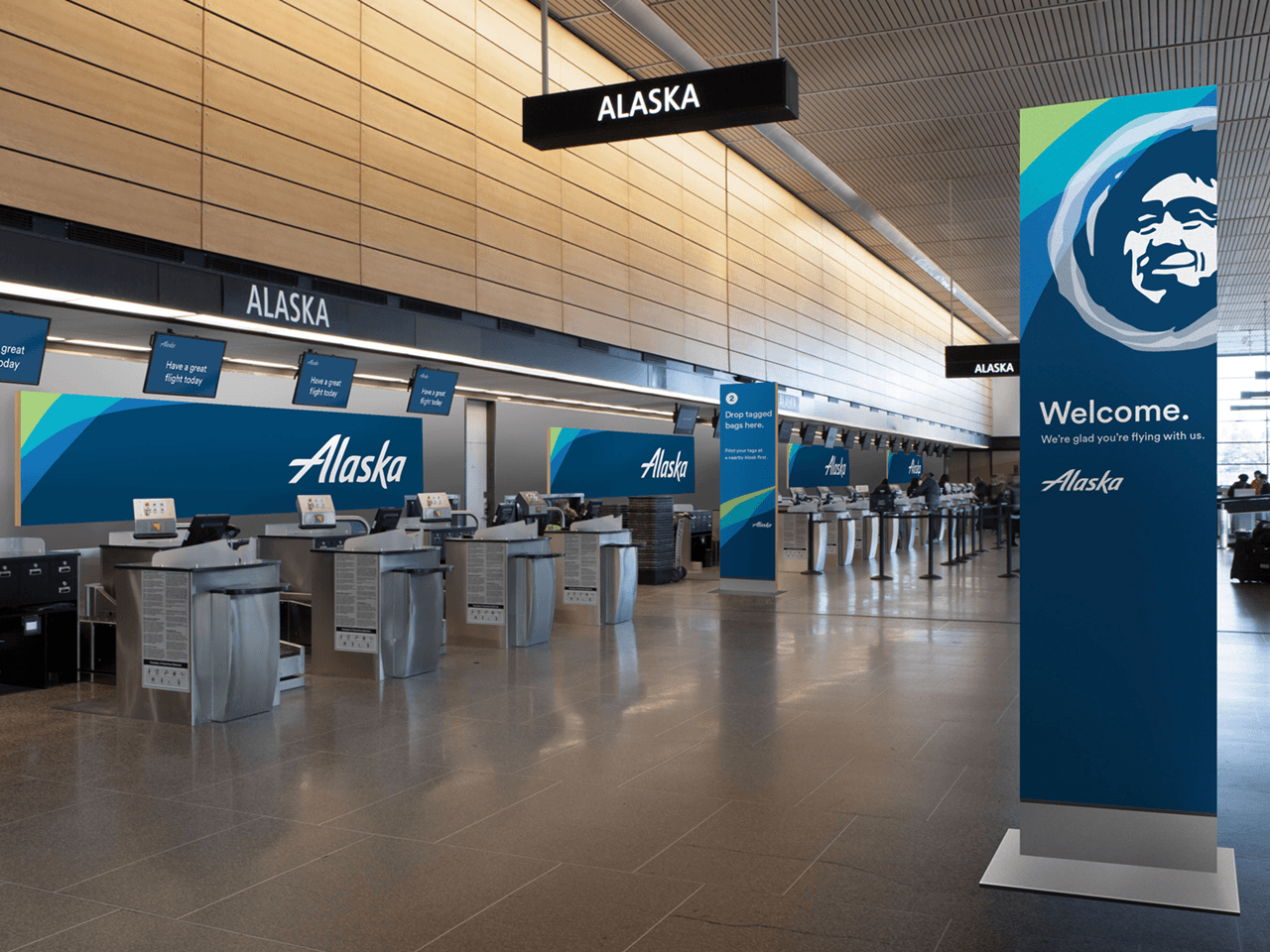 Alaska Airlines unveils new corporate identity