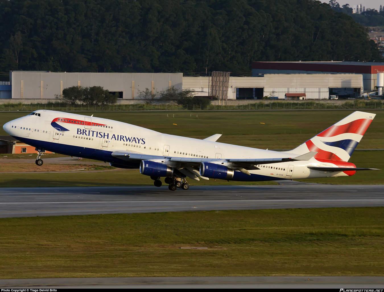 British Airways 747-436 suffers damage at JFK