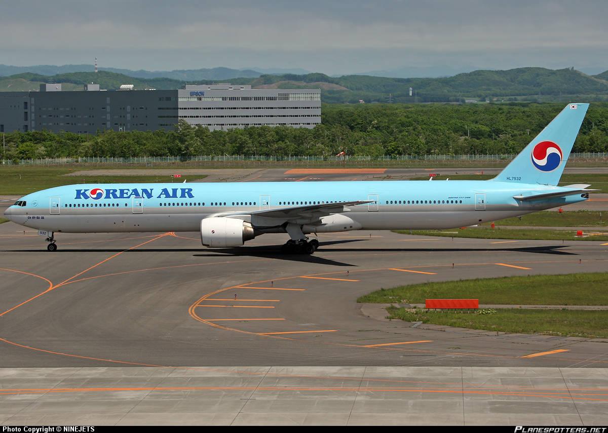 Korean Air 777-3B5 can not retract nose gear