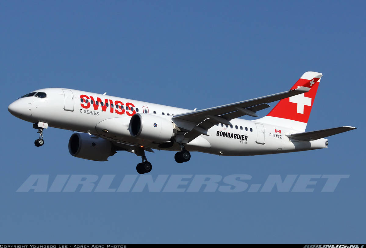 Swiss International Air Lines to debute CSeries on Paris route July 15th