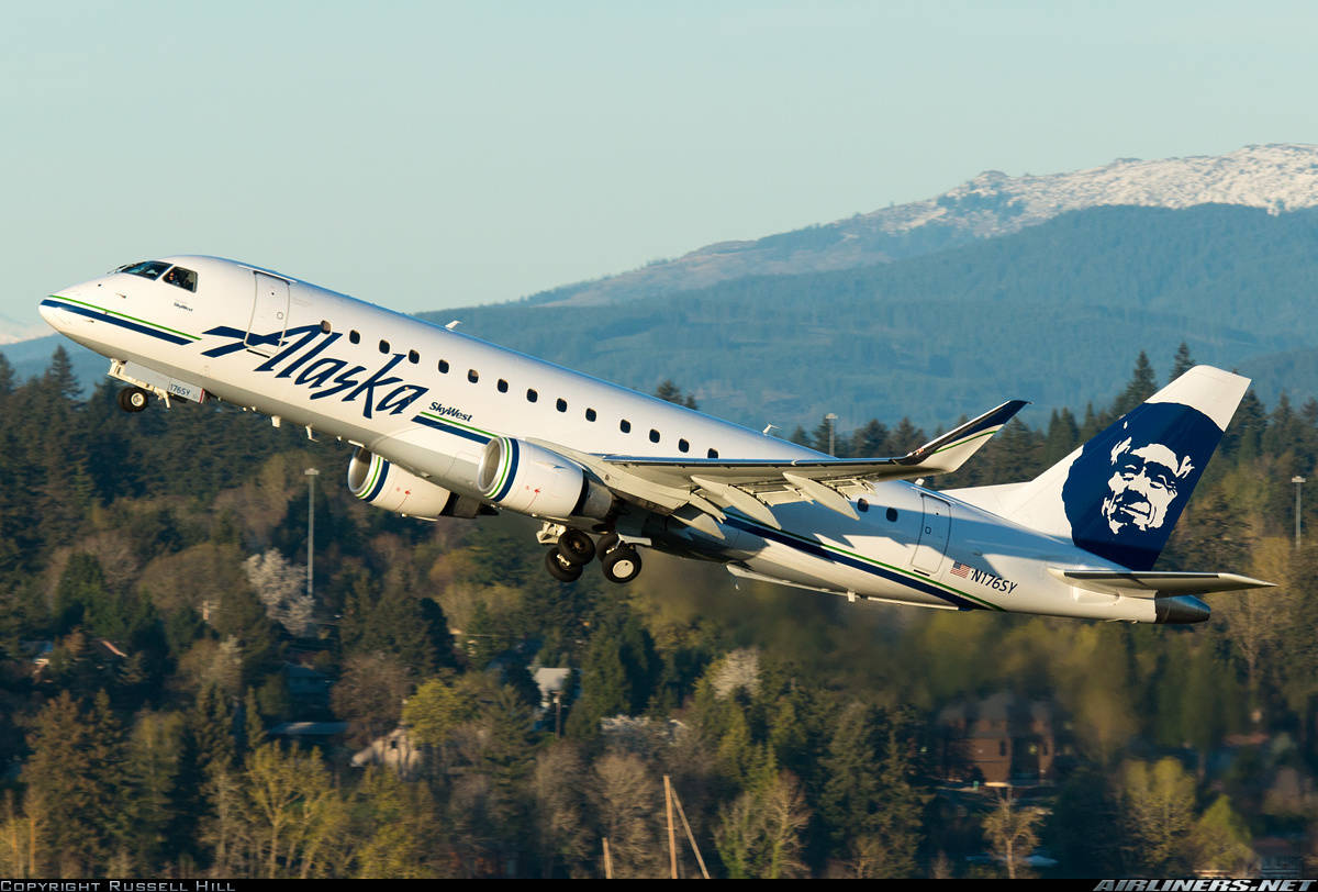 SkyWest to op. 5 more E-175 on Alaska Airlines behalf