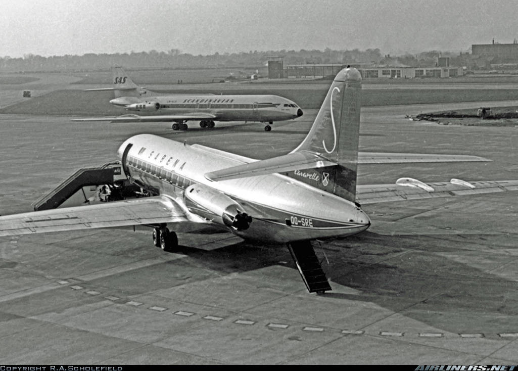 A look into a Caravelle flight operated by Sabena in the 1960s