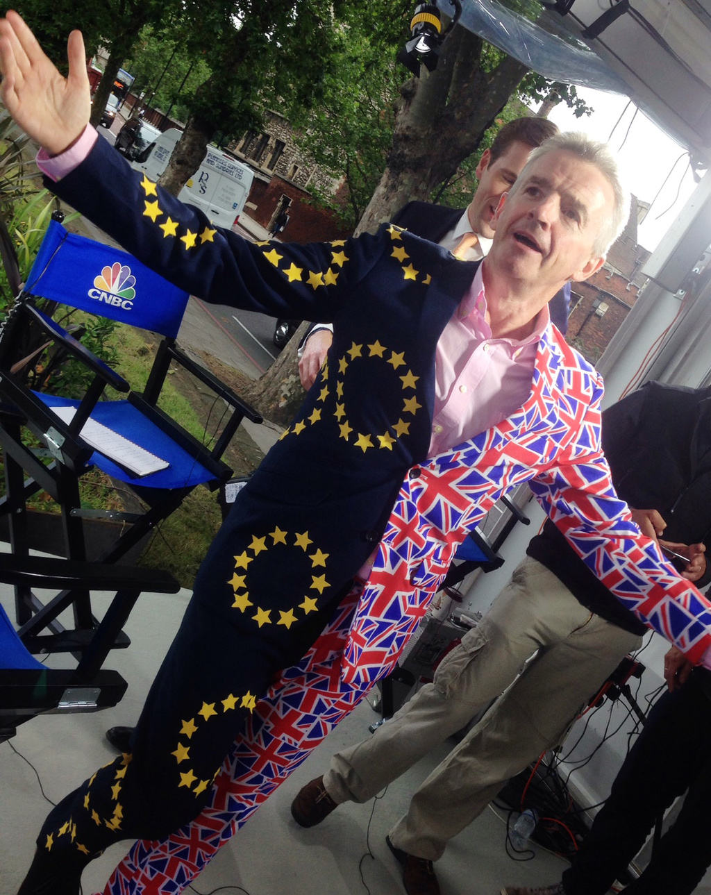 Micheal O'Leary shows off his opinion on the Brexit his way…