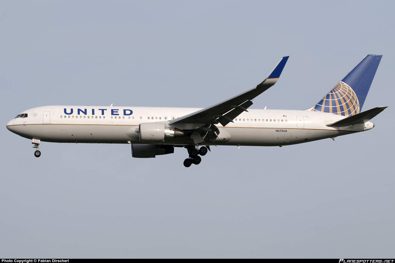 United Airlines flight 557 has part of ceiling fall off
