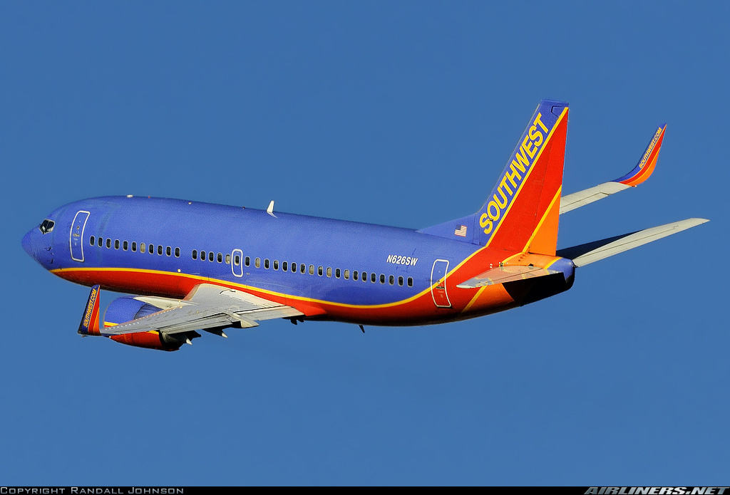 Southwest Airlines Boeing 737-3H4(WL) has engine problems
