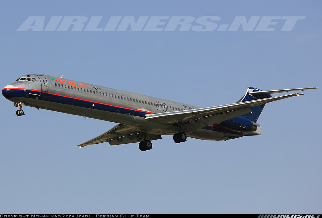 Engine fire warning on MD-82 of Zagros Air