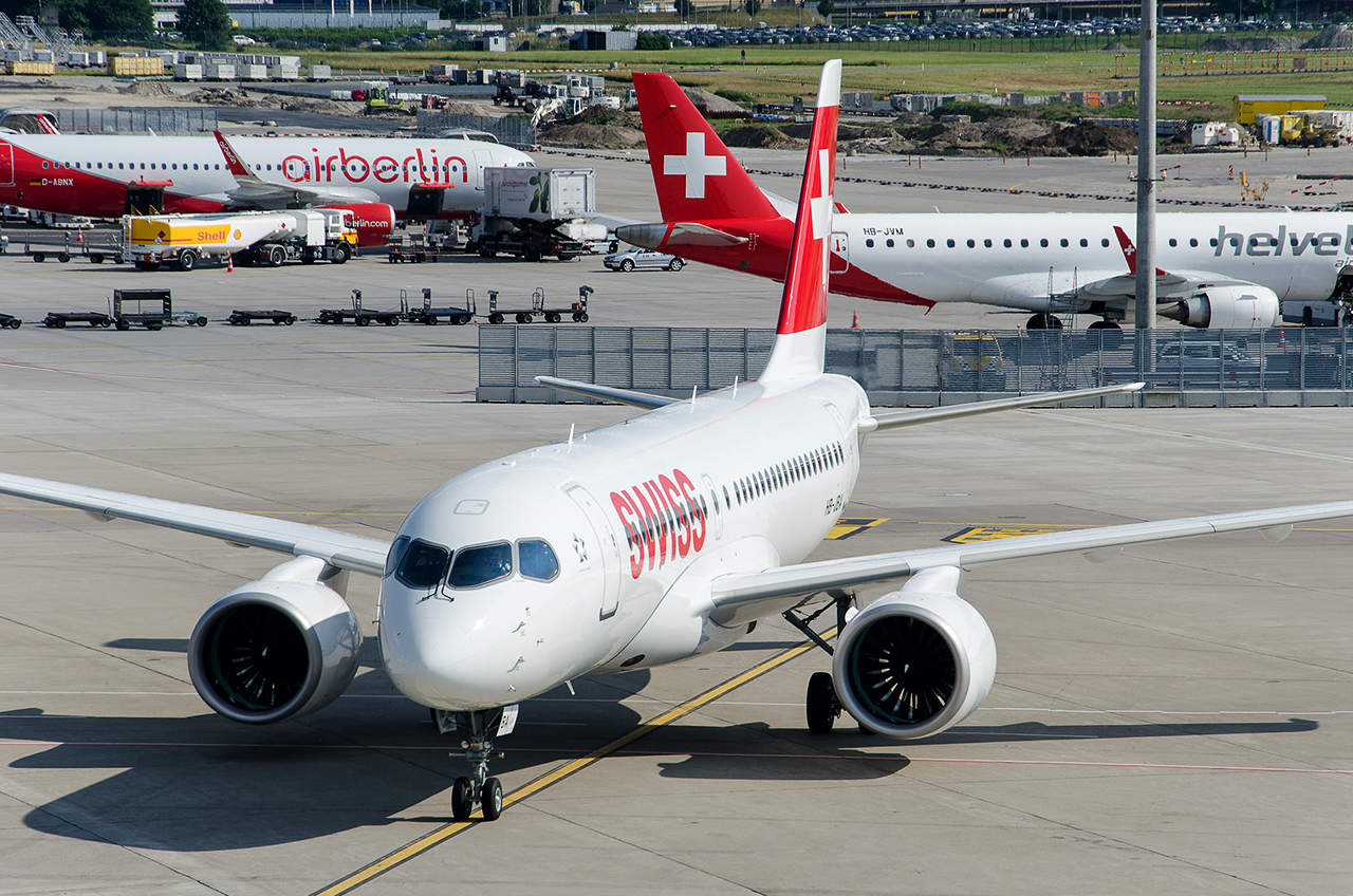 CS-100 of Swiss International Air Lines has air conditioner failure