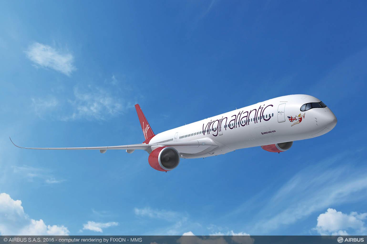 Virgin Atlantic orders 12x Airbus A350-1000XWB