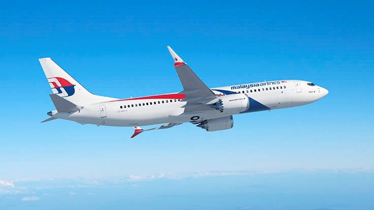 Malaysia Airlines orders up to 50 Boeing 737MAX jets