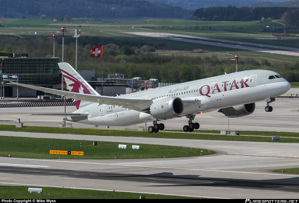 Qatar Airways Boeing 787-8 shuts engine down inflight