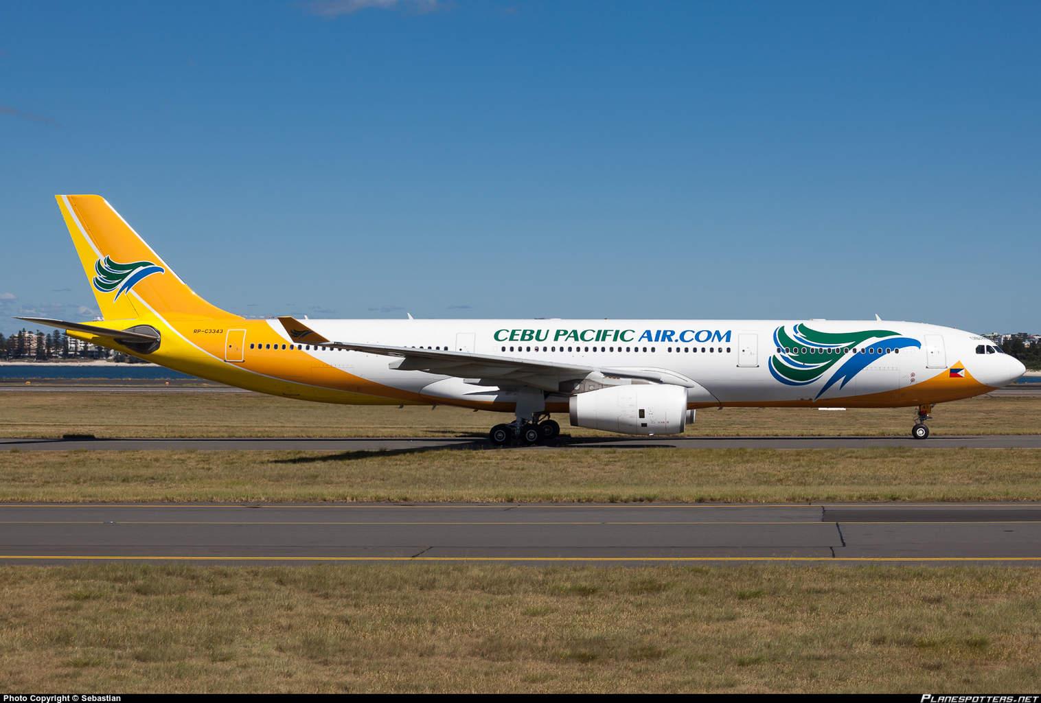Cebu Pacific Air Airbus A330-343 has engine problem