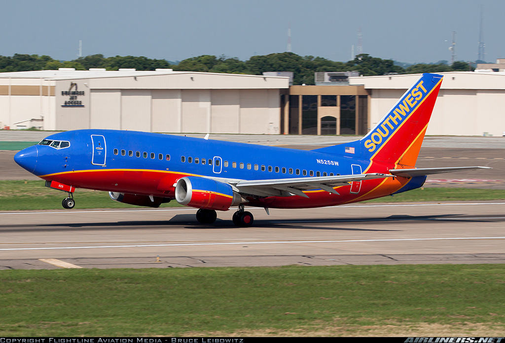 Southwest Airlines retires Boeing 737-500 in early of September 2016