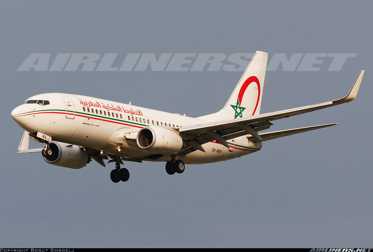 One bouncy take-off for this Boeing 737-7B6(WL) of RAM – Royal Air Maroc