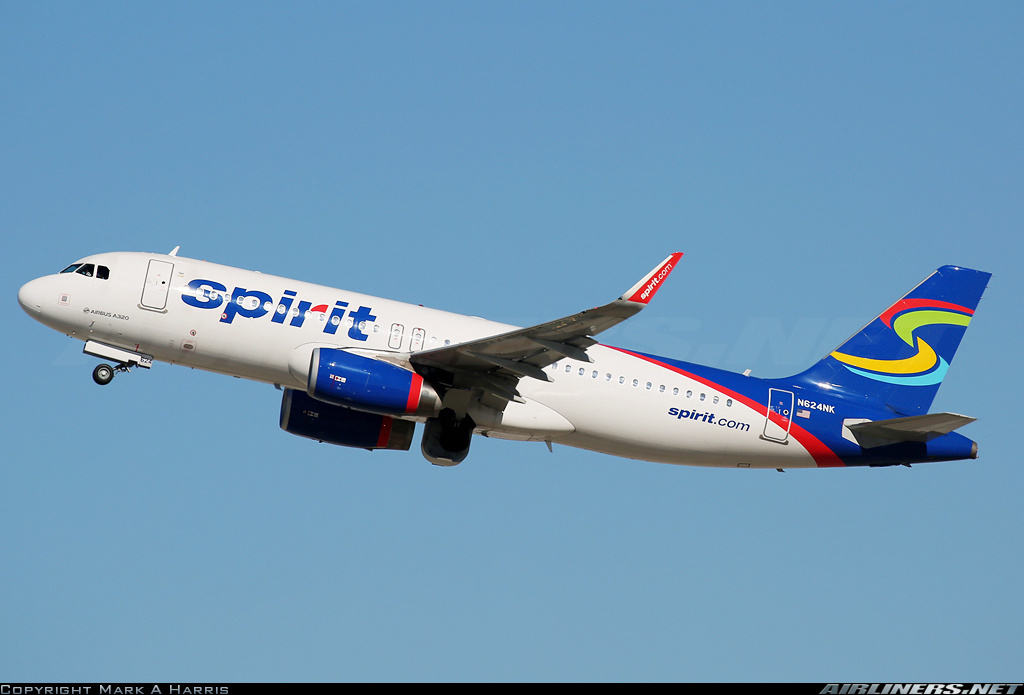 Airbus A320-232(SL) of Spirit has fumes onboard