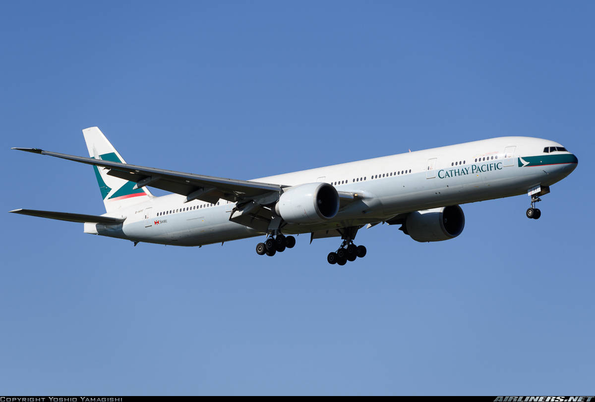 Cathay Pacific Boeing 777-367(ER) looses communication and gets intercepted