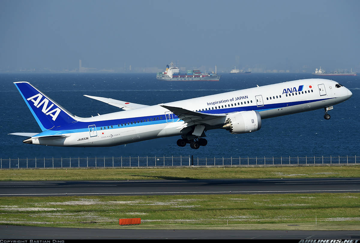 Boeing 787-9 Dreamliner of ANA – All NipponAirways has engine faillure during climb out