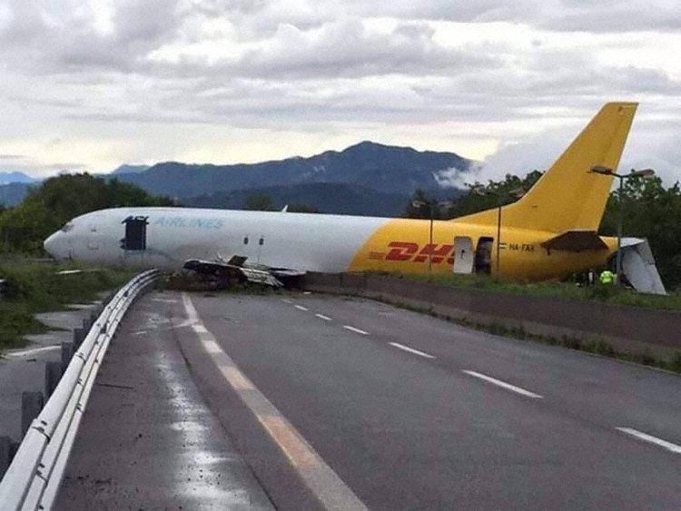 ASL Hungary flight overruns runway at Milan Bergamo
