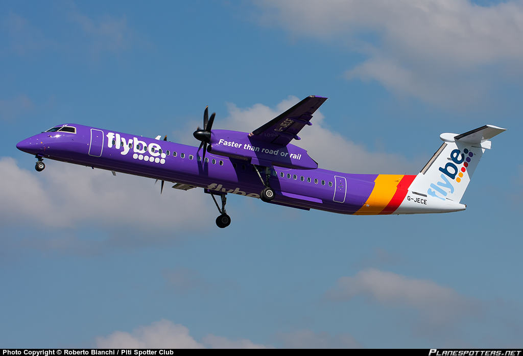 """DHC-8-402Q of Flybe has a """"minor technical fault"""" during its descent into Belfast City"""
