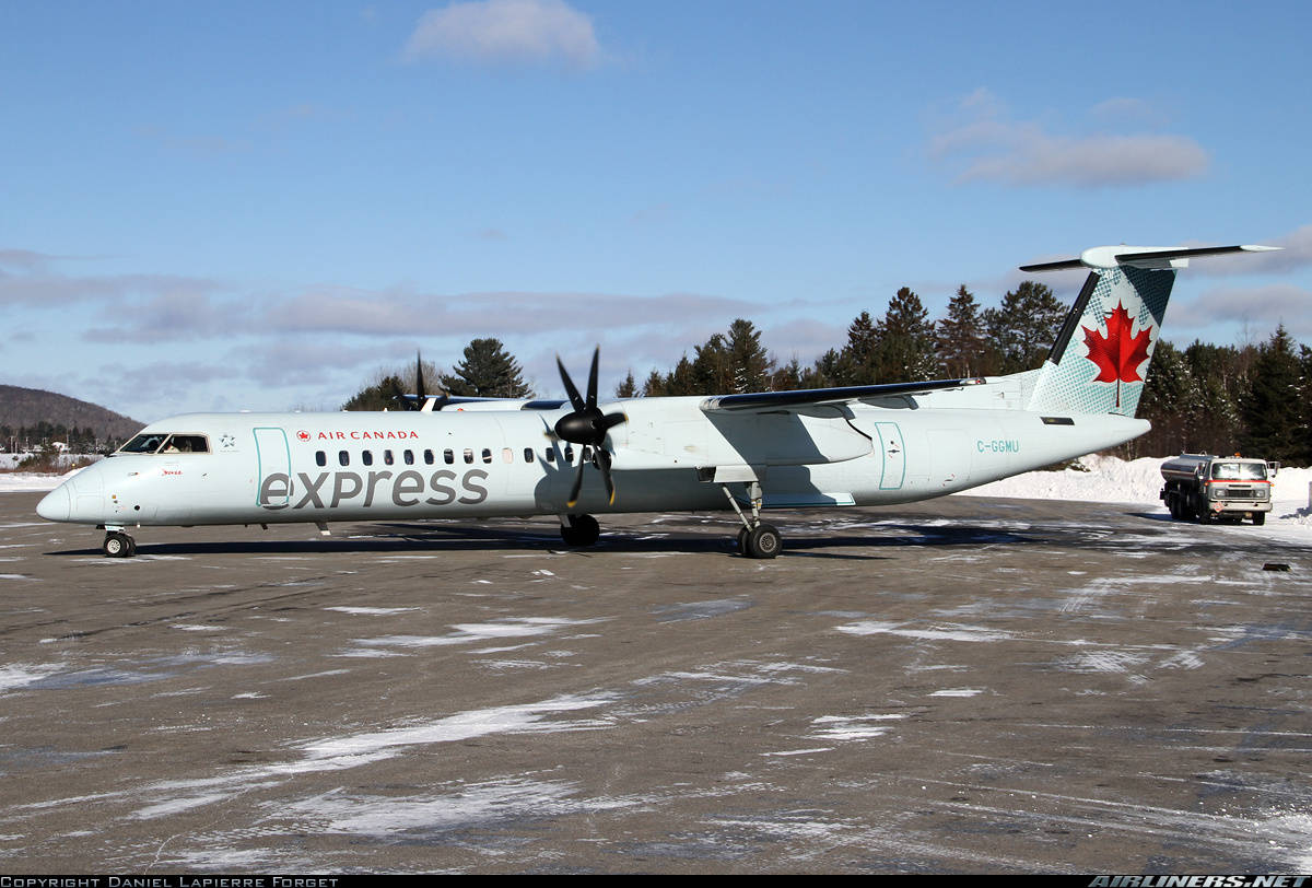 Engine fire warning on Q400 of Air Canada Express