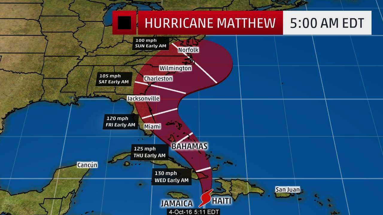 Airlines waiving fees for passengers affected by Hurricane Matthew