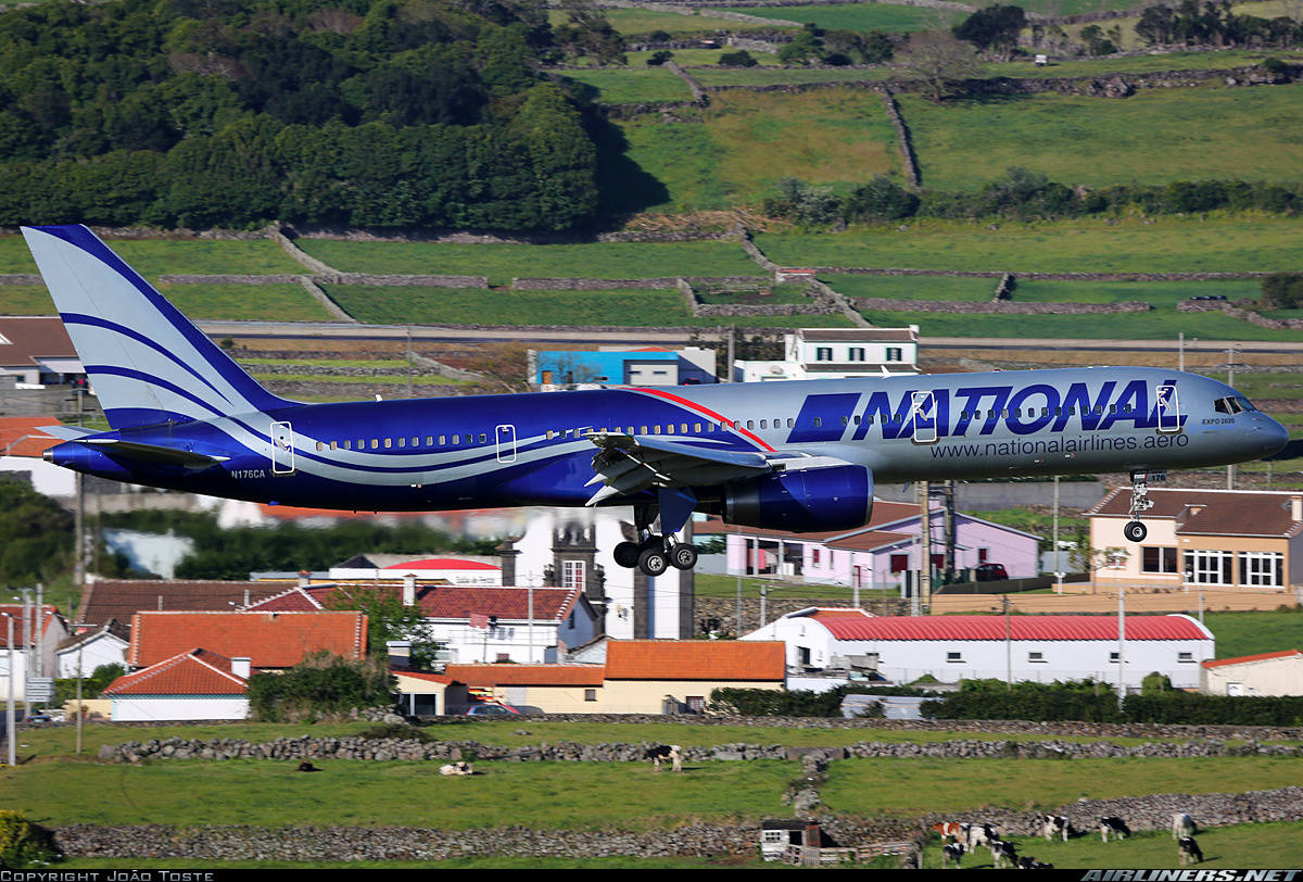 N176CA of National Airlines impounded by St. John's Airport Authorities