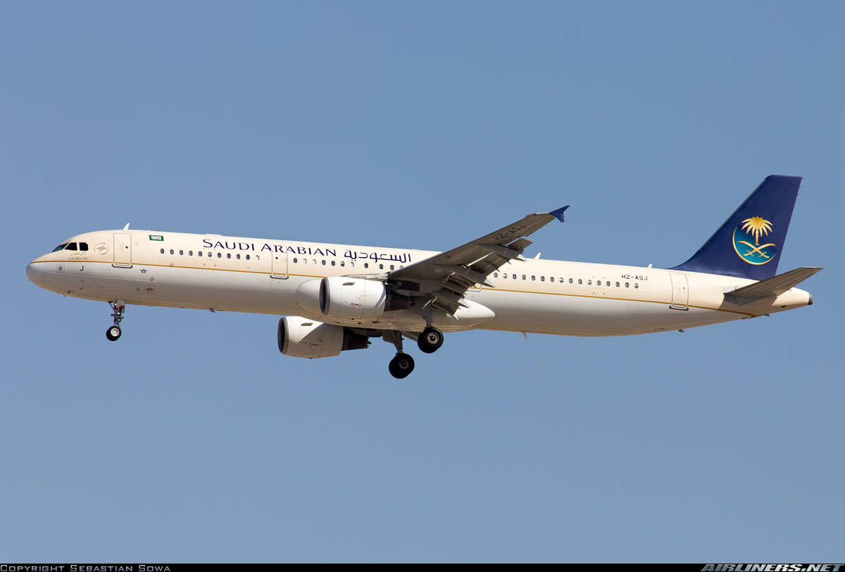 Airbus A321-211 of Saudia rejects take-off because of engine fire warning