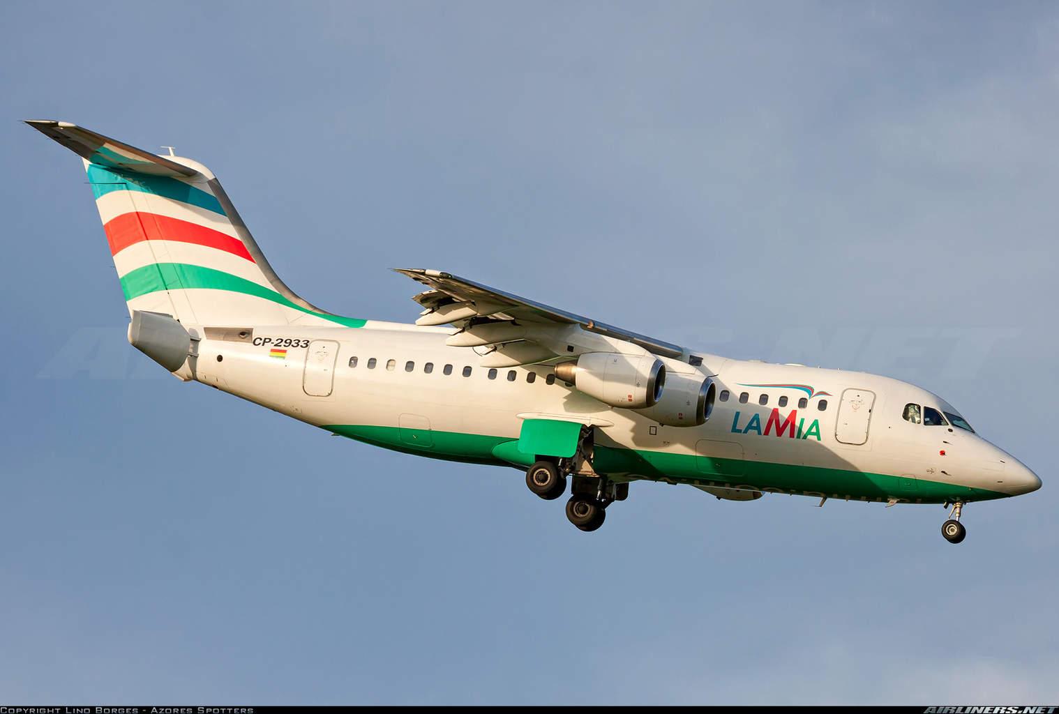 LAMIA Bolivia RJ85 crashes with the Chapecoense football team onboard