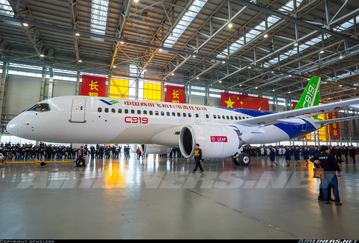 Maiden engine run up for COMAC C919