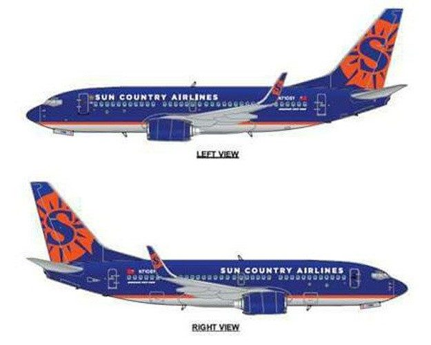 Sun Country updates livery