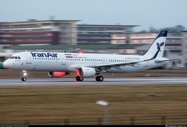 Iran Air receives first Airbus A321